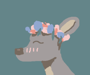 Deer with flower crown