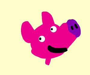 peppa pigs head