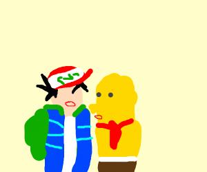 ash kissing sponge bob triangle pants