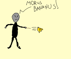 Voldemort casting a spell for more bananas
