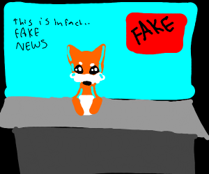 Orange fox declares this is fake news