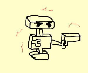 Robot with a gun