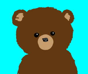 Cute Bear stares at you