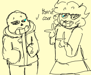 sans says his mom is cool