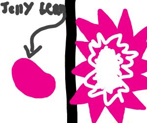Pink Jellybean explodes