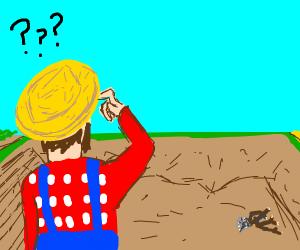man wonders where his farm is