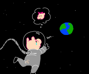 pig in space longing for his son