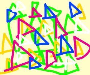 triangular scribbles