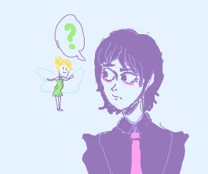 emo guy and tinker bell