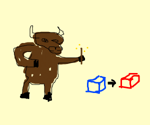 ox that can cange the color of objects
