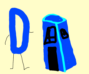 Drawception D and the Tardis