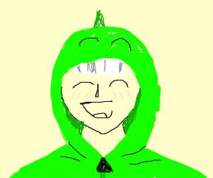 Anime dude in a dinosaur hoodie