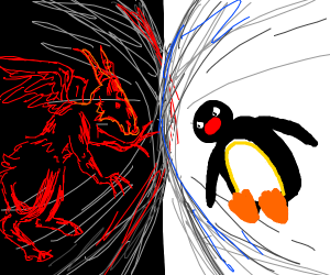 Satan Vs. Pingu: the Epic Battle