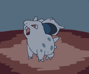 Nidoran being ADORABLE!