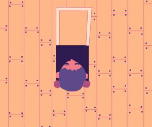 Girl lieing between lilies - Drawception