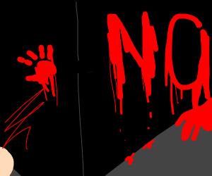 blood writes no