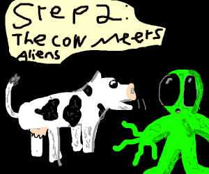 Step 1: Kick a cow into orbit