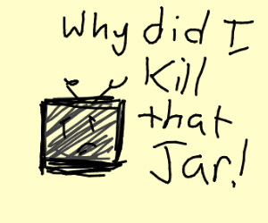 A tv man is anxious because he killed a jar