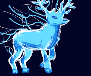 A magical stag like from Harry Potter
