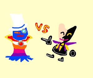 Count Bleck vs Dimentio (Super Paper Mario)
