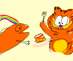 gay fish vores garfields lasagna