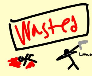 stickman GTA WASTED