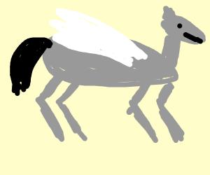stone winged horse