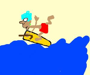 Grandmother Surfing