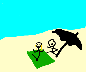 a nice day at the beach with your boyfriend