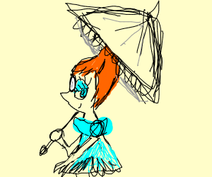 Pearl with an Umbrella