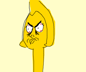 Long neck yellow diamond