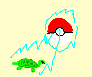Catch Normal Turtle with Pokeball