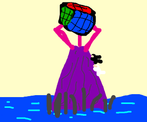 Rubix cube tower