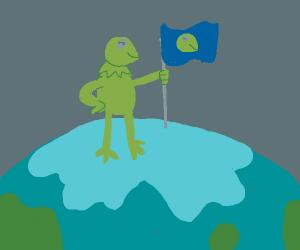 kermit takes the earth