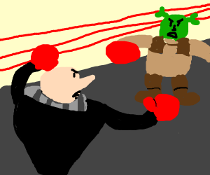 Shrek vs Felonious Gru; boxing!