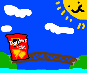Chips crossing a Bridge