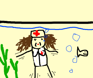 Nurse in an Aquarium