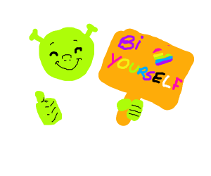 shrek is/supports bisexual people