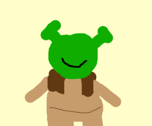 shrek with nothing but a mouth + ears