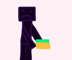 Enderman annoyed about grass block(?)