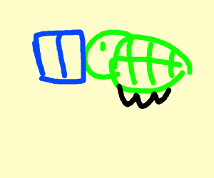 A turtle reading a book