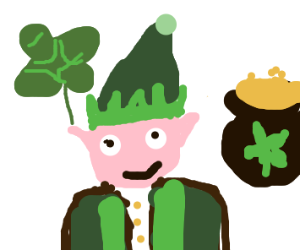 Leprechaun / elf combo wishes us a happy SPD