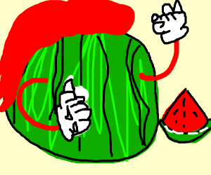 Knuckles but he's a watermelon