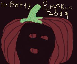 Pumpkin wearing a charcoal face mask