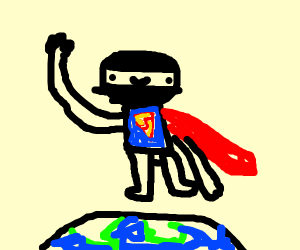 Superman, but he's a ninja