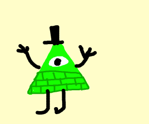 Green Bill Cipher with two colors of Green
