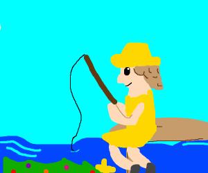 fishing for xmas berries