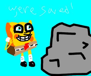 Spongebob finds a rock