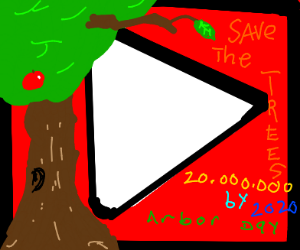 Let's save the trees