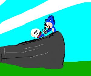 Sonic punches humpty dumpty